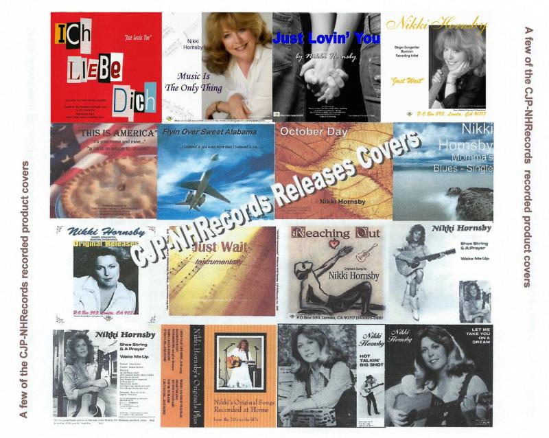 CD covers for Nikki Hornsby releases