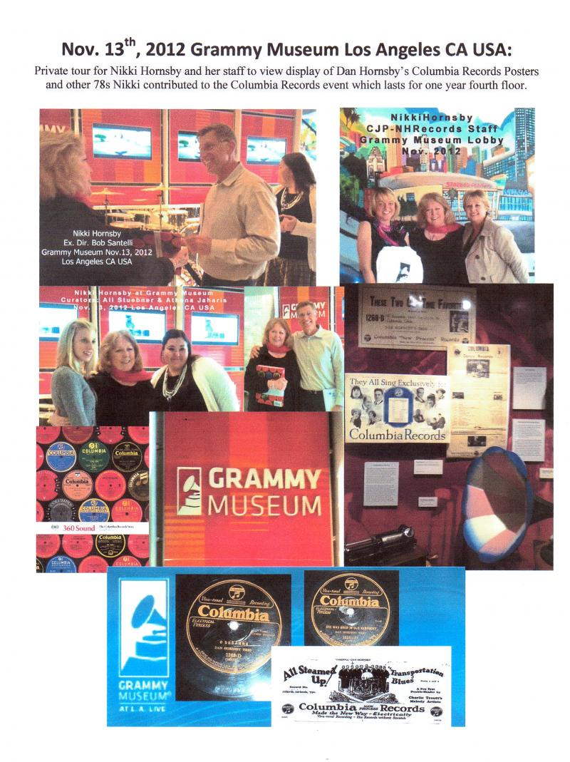 Grammy Museum Hornsby on Columbia Records display
