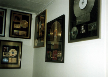 Rifkin's Gold Records on Studio Wall